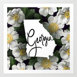 Georgia - Cherokee Rose Art Print