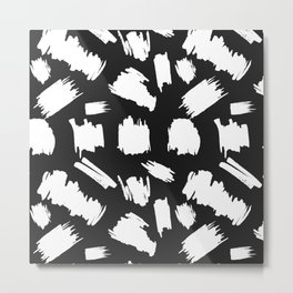 Pattern with hand-drawn paint, ink splashes and strokes Metal Print