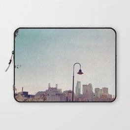 Minneapolis Minnesota Skyline at the Stone Arch Bridge Laptop Sleeve