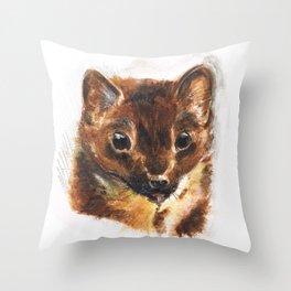 European Pine Marten Throw Pillow