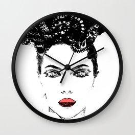 La femme Medusa white Wall Clock