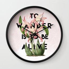 To Wander Wall Clock