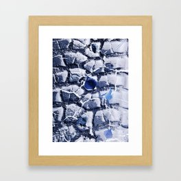Blue leaf Framed Art Print