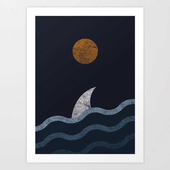Midnight Shark Art Print