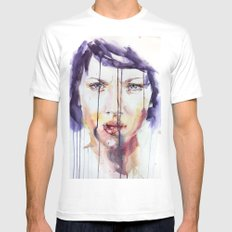 Portraint 1 MEDIUM Mens Fitted Tee White