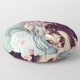 Unicorns live forever Floor Pillow