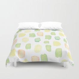 Pastel colors brushstrokes pattern Duvet Cover