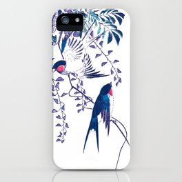 Swallow and Wisteria iPhone Case