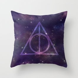 Deathly Hallows in Space Throw Pillow