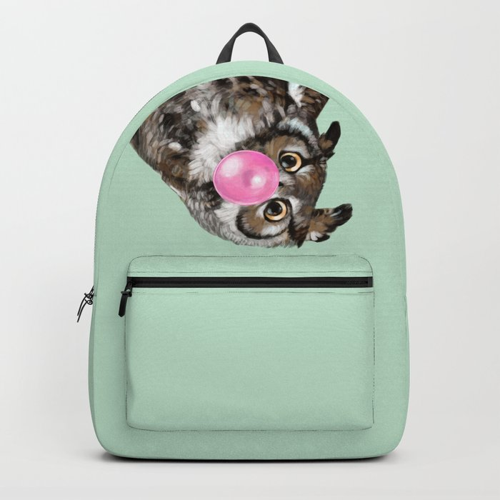 Sneaky Owl Blowing Bubble Gum Backpack