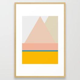 Mid Century Geometric B Framed Art Print
