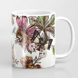 Tropical pattern with passionflower and butterlies Coffee Mug