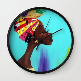 The Fruitful Woman Wall Clock