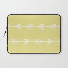 Running Arrows in White and Yellow Laptop Sleeve