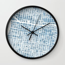 Philadelphia City Map Wall Clock