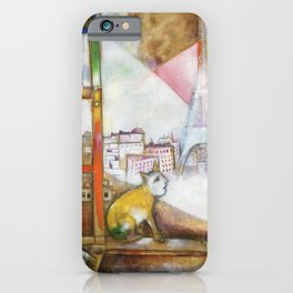 Marc Chagall Paris Through My Window iPhone Case