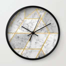 Shattered Marble 2 Wall Clock
