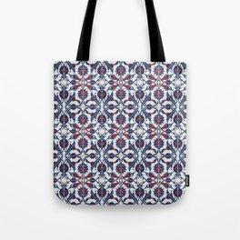 Vintage Blue Ceramic Tiles Wall Decoration Tote Bag