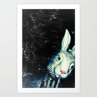 queer Art Prints featuring Queer Rabbit by NRL Photography