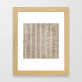 Striped burlap (Hessian series 3 of 3) Framed Art Print