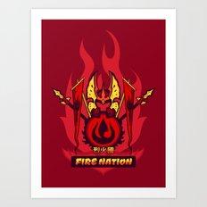 Avatar Nations Series - Fire Nation Art Print
