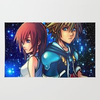 kingdom hearts Area & Throw Rugs featuring KINGDOM OF HEARTS by Cat Milchard
