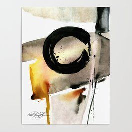 Enso Abstraction No. 105 by Kathy morton Stanion Poster