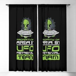 Green Alien UFO Flying Saucer Area 51 Ufo Retrieval Team Blackout Curtain