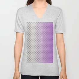 Red Blue Dots with White Purple Ombre Unisex V-Neck