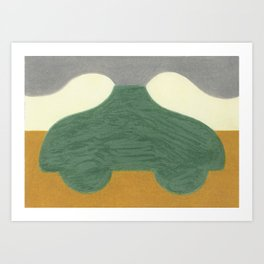 The Onion Soup Car Art Print