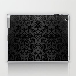 Black Damask Pattern Design Laptop & iPad Skin