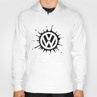 vw Hoodies featuring VW splat by Vin Zzep
