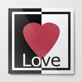 Love .Gift design. Metal Print