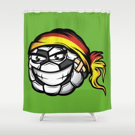 Football - Germany Shower Curtain
