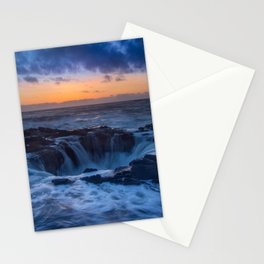 Thor's Well at Sunset Stationery Cards