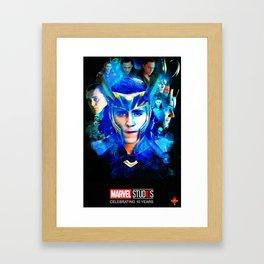 10 years of Loki Framed Art Print
