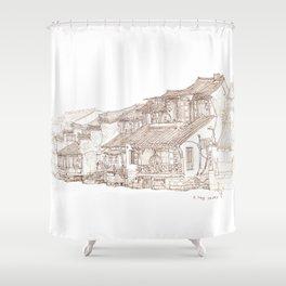 Xitag.China.Rivr Villae Shower Curtain
