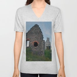 Quincy Hill Mine Shaft and Ruins Unisex V-Neck