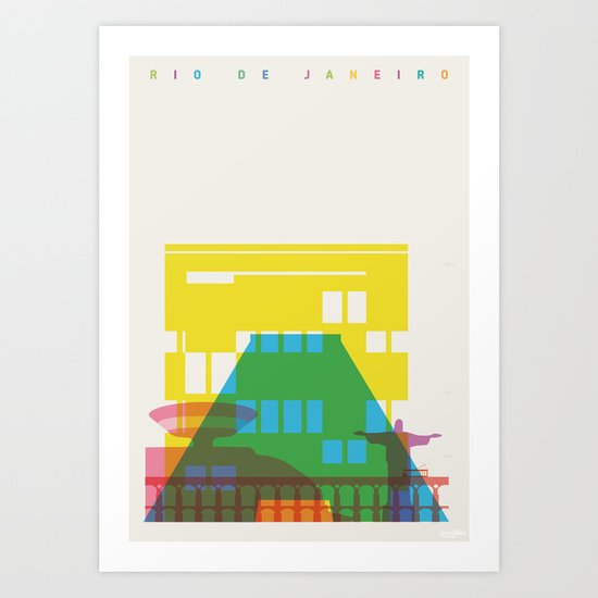 Shapes of Rio. Accurate to scale Art Print