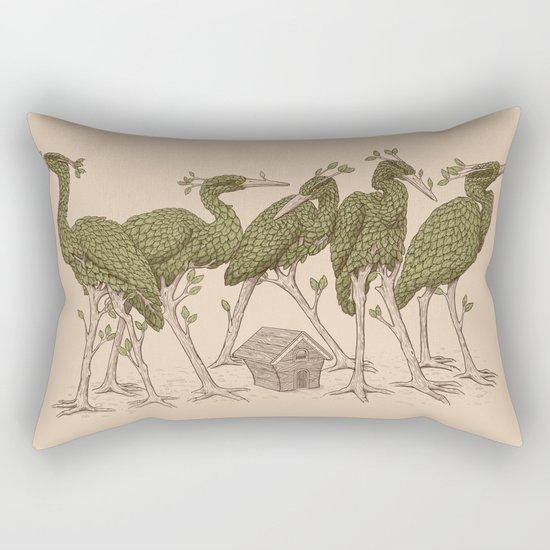 Bird Forest Rectangular Pillow