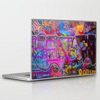 grafitti Laptop & iPad Skins featuring Bright Grafitti by davehare