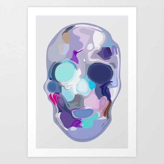Skull - 01  layered series Art Print