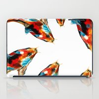 koi iPad Cases featuring Koi by James Peart