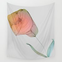 tulip Wall Tapestries featuring Tulip by Brontosaurus
