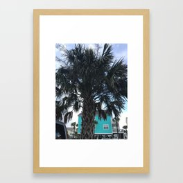 Palm trees in Myrtle Beach Framed Art Print
