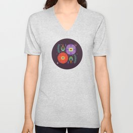 Flowerfully Folk Unisex V-Neck