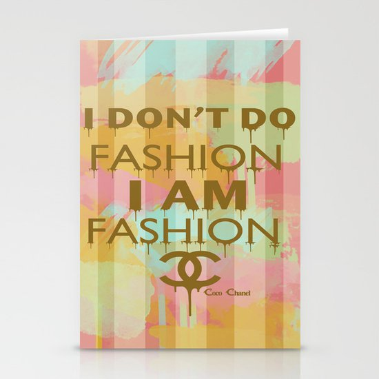 Fashion Typography Stationery Cards