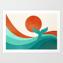 Wave (day) Art Print