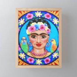 Beautiful Frida Mandala Framed Mini Art Print