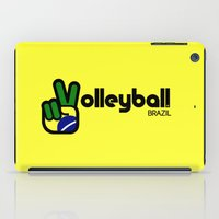 volleyball iPad Cases featuring Volleyball Brazil by Skylar 83